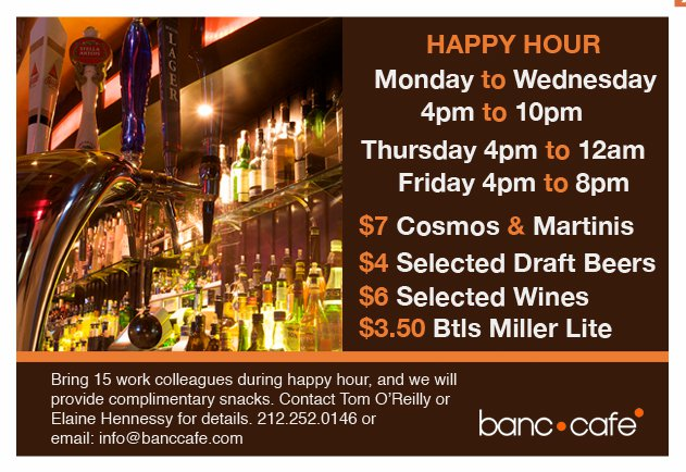 Cafe  Nyc Happy Hour