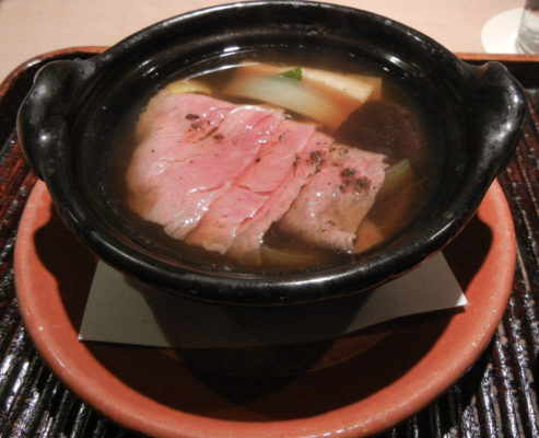 Hot Pot- Thinly Sliced Japanese Wagyu Beef and Seasonal Vegetables