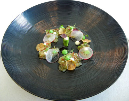 Kingfish, avocado, radish and Miso